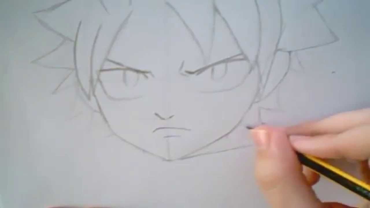 How to Draw Natsu from Fairy Tail Tutorial
