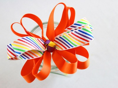 HOW TO: Loopy Hair bow ( different technique). Hairbow tutorial