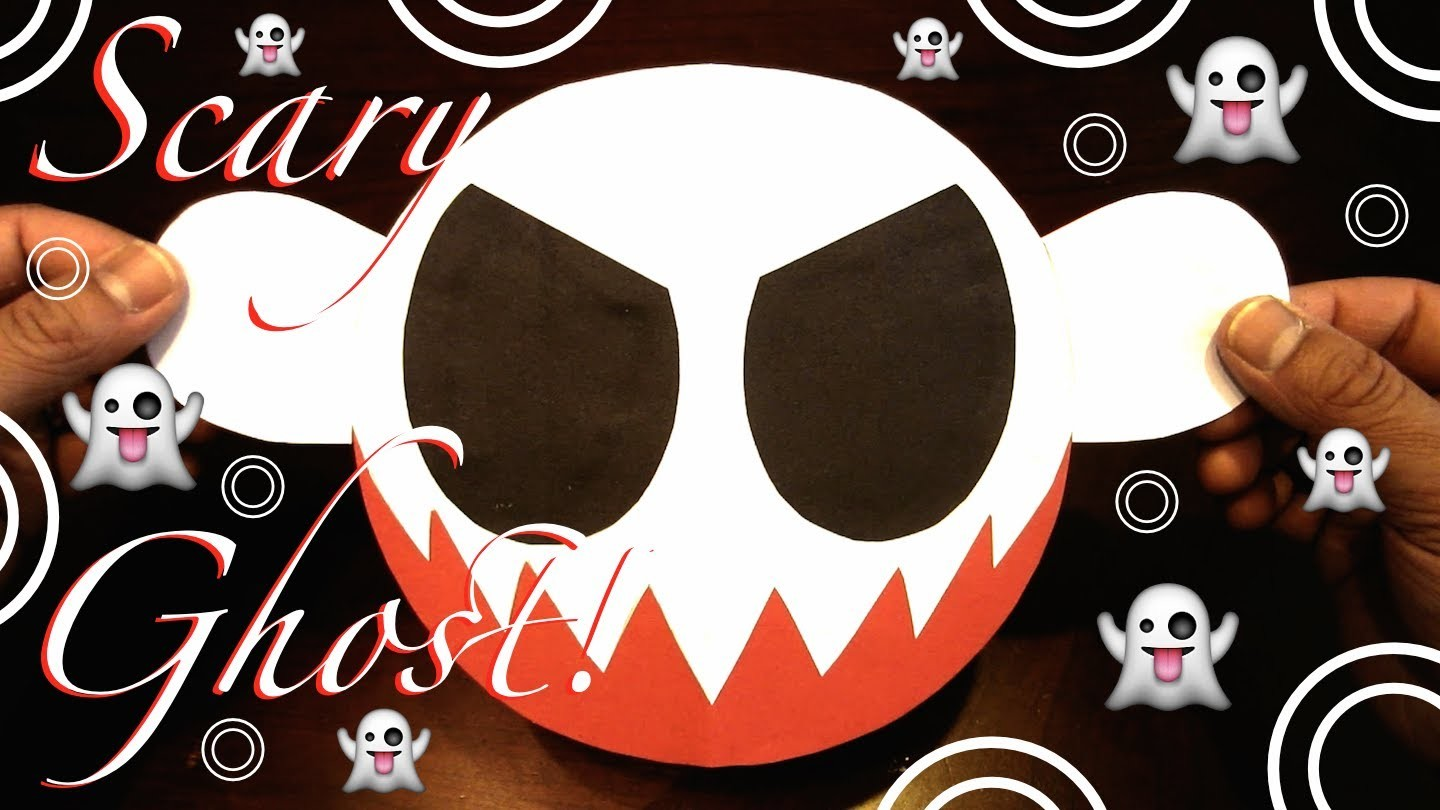 How to Make a Scary Ghost Color Paper Tutorial! Happy Halloween! - Lana3LW