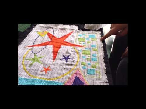 How to stitch on waste canvas-video tutorial 3