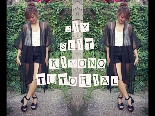I ✂ I  DIY : Easy Slit Kimono Tutorial  I ✂ I
