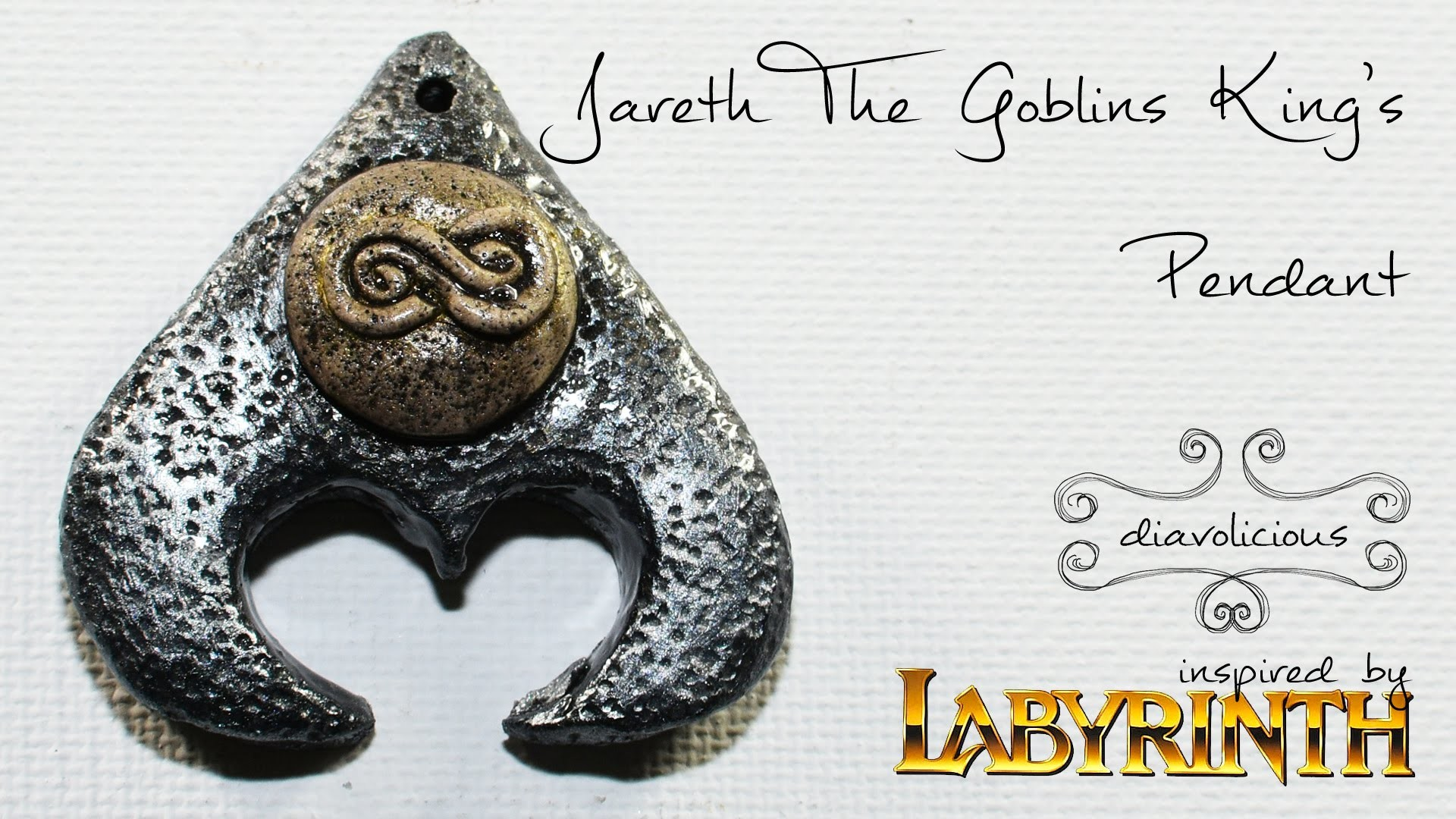 Jareth The Goblin King necklace - Labyrinth inspired polymer clay TUTORIAL