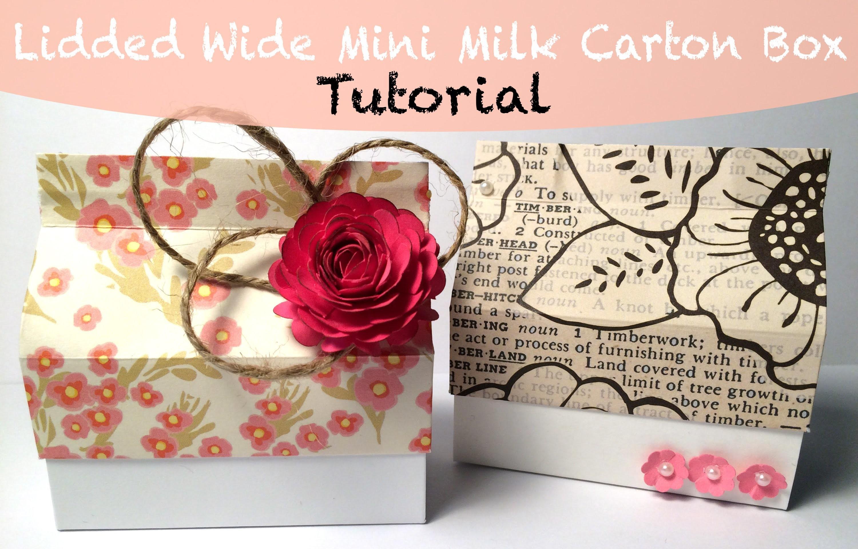 Lidded Wide Mini Milk Carton Box Tutorial