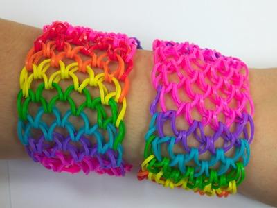 Loom Bands česky - Grid Bracelet - Tutorial