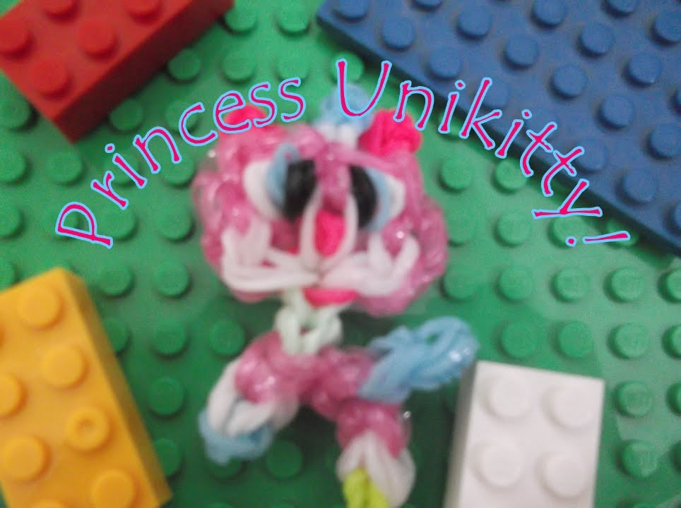Loom Bands: LEGO Movie Princess Unikitty Charm Tutorial!