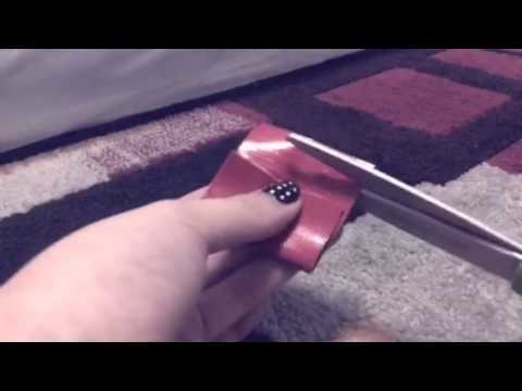 Lps DIY How to make a duck tape bag