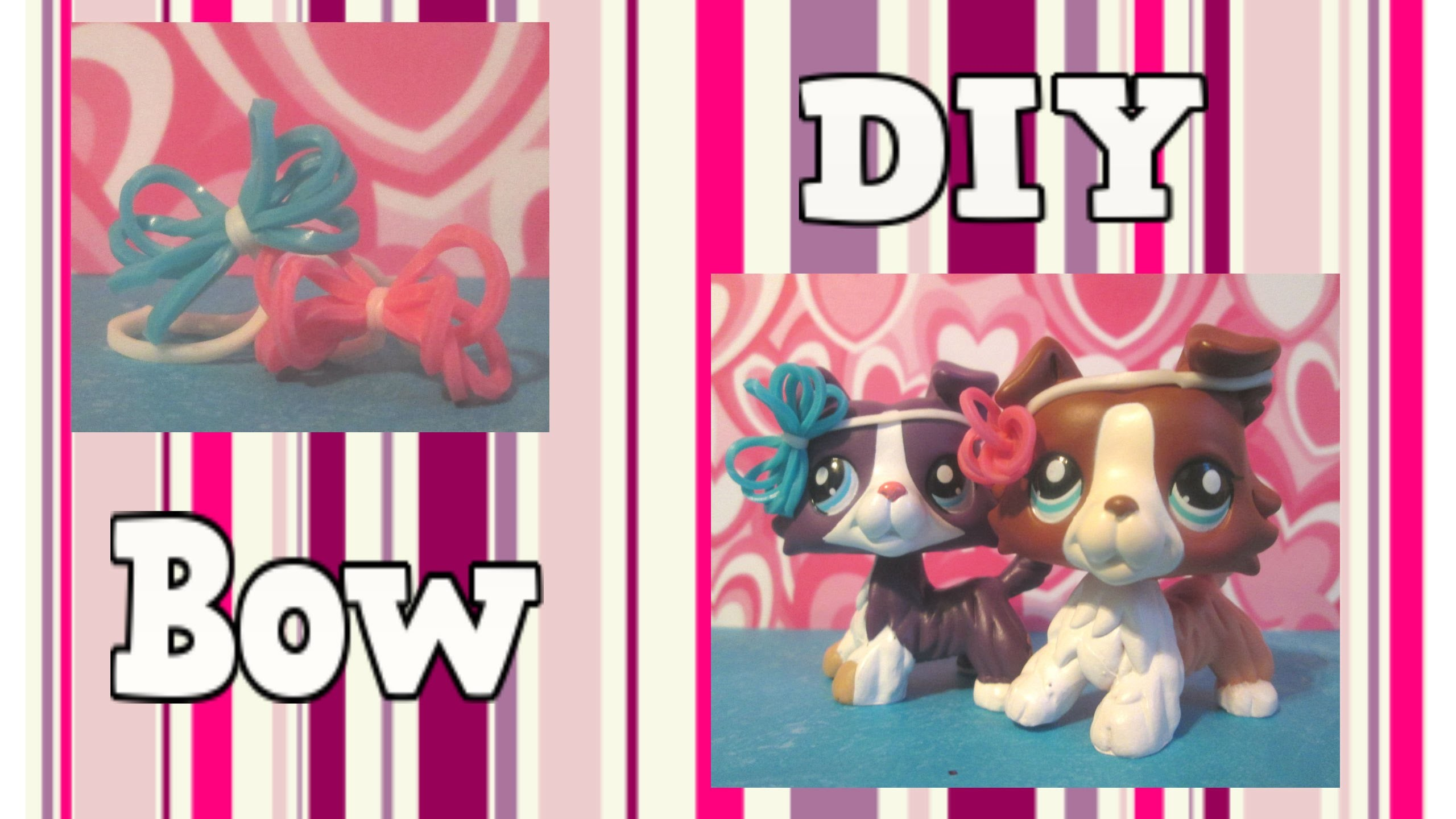 LPS DIY- How to make a LPS rubber band bow