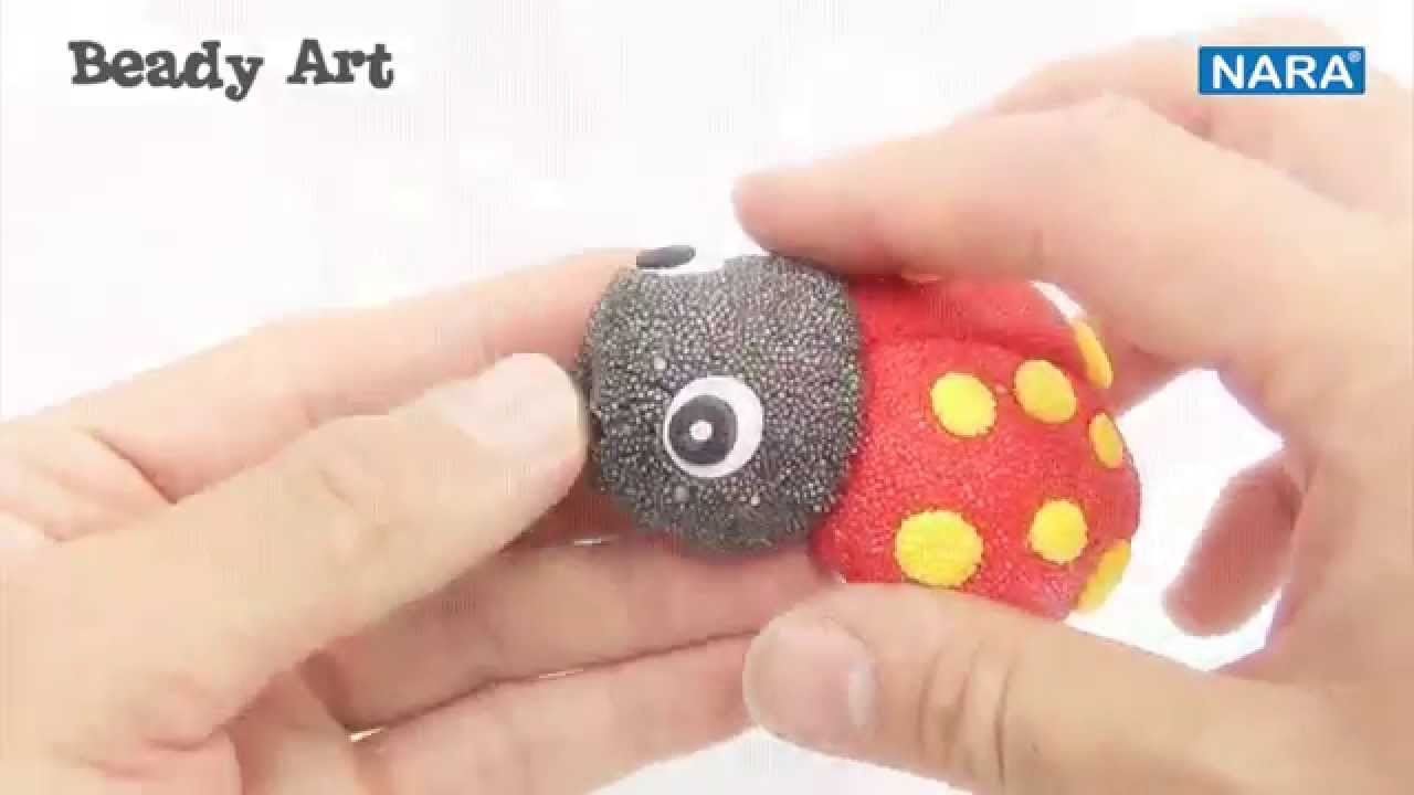 NARA Tutorial: BEADY ART_how to make LADY BUG