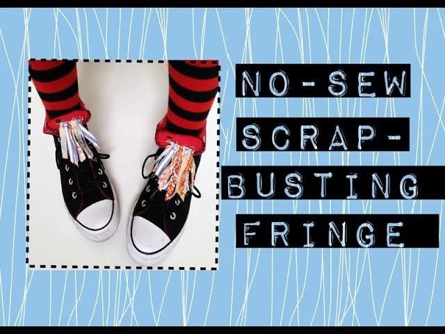 No Sew DIY Upcycled Scrappy Fringe  Pins