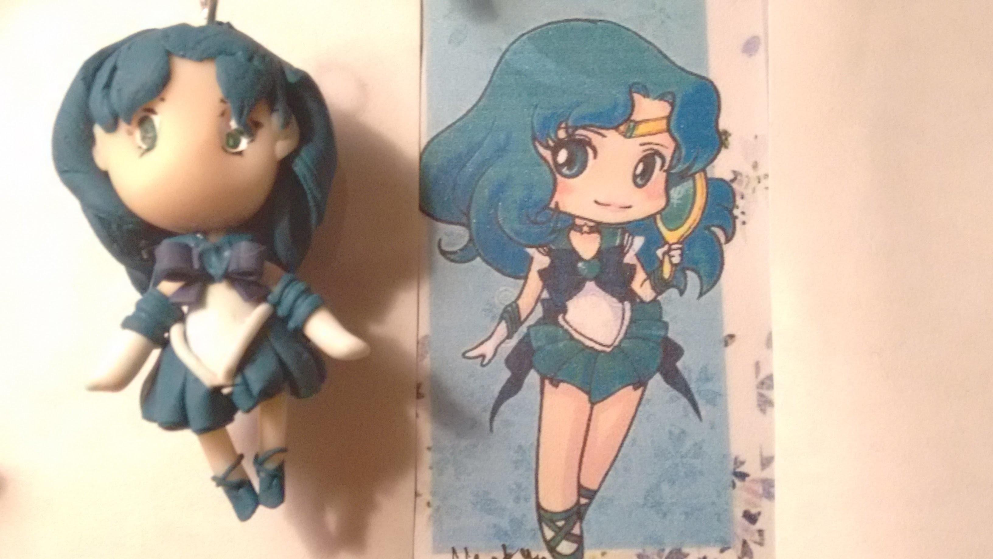 Polymer Clay Sailor Moon Tutorial Series Part 9 - Sailor Neptune Chibi