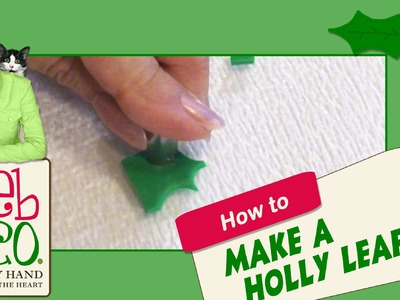 Polymer Clay Tutorial - How to Make a Holly Leaf