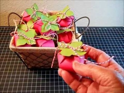 Strawberry Favor Boxes, Tutorial (for candy, chocolate)