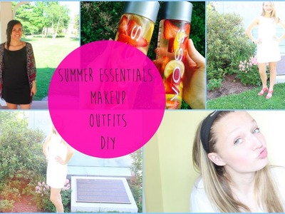 Summer Essentials!! Makeup, DIY Detox Water, & Outfits⎜peyton rose