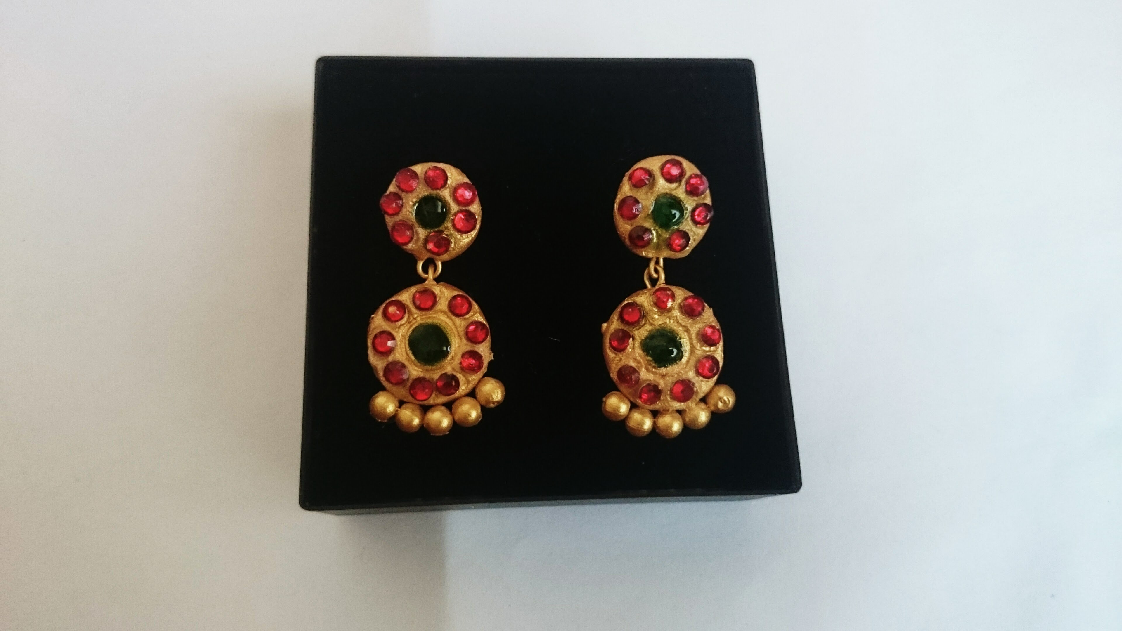 Terracotta kemp earrings making| Clay Kemp earrings making tutorial