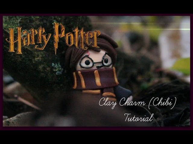 "Time Lapse.""Tutorial"" - Harry Potter Clay Charm.Chibi!"