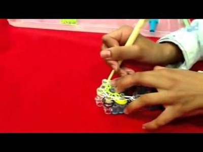 [TUTORIAL !!] How to EASILY make double crossed double starburst - Loom Bands Channel
