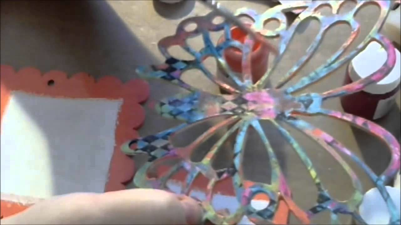 Tutorial Mixed Media Butterfly Wall Hanging For Gina's Designs DT