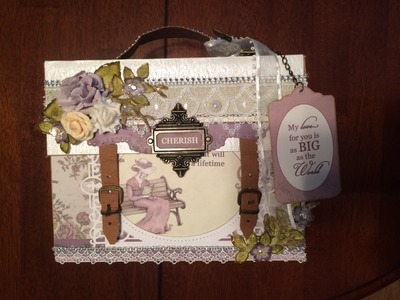 TUTORIAL PART 3 DESIGNS BY SHELLIE TRANQUIL GARDENS SUIT CASE STYLE MINI ALBUM