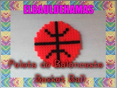 ❤TUTORIAL: Pelota de Baloncesto - Basket Ball con Hama Beads❤