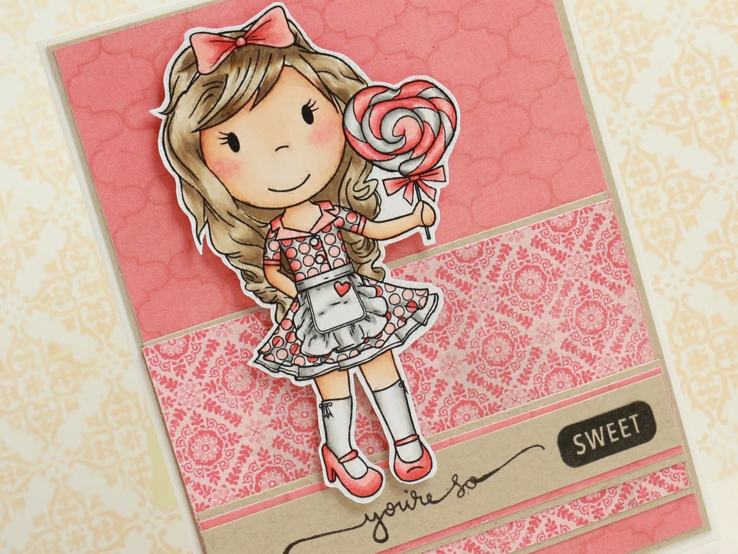 You're so sweet - Copic Coloring & Card Tutorial