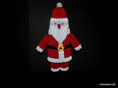 3D origami Santa Claus tutorial part 2