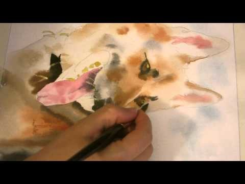 6th Installment German Shepherd Watercolor Painting Tutorial How-to Lesson Tips
