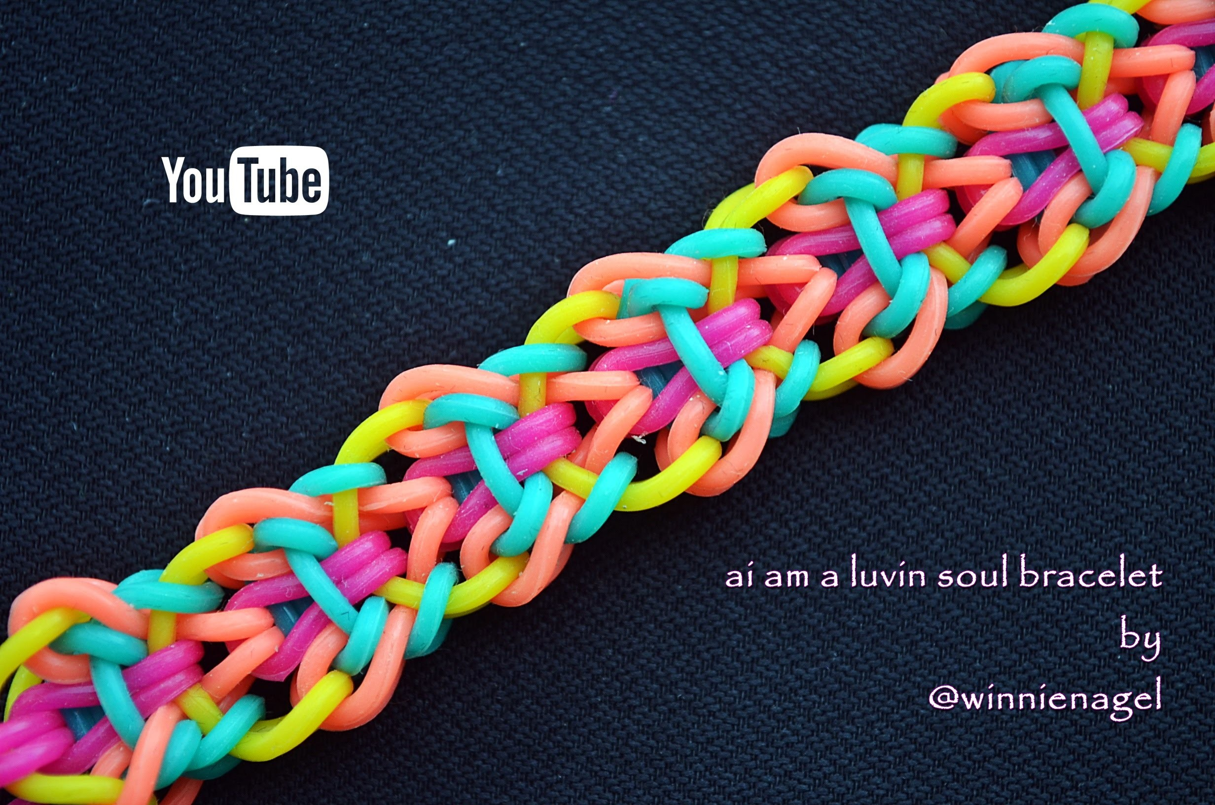 AI AM A LUVIN SOUL BRACELET HOOK ONLY DESIGN TUTORIAL