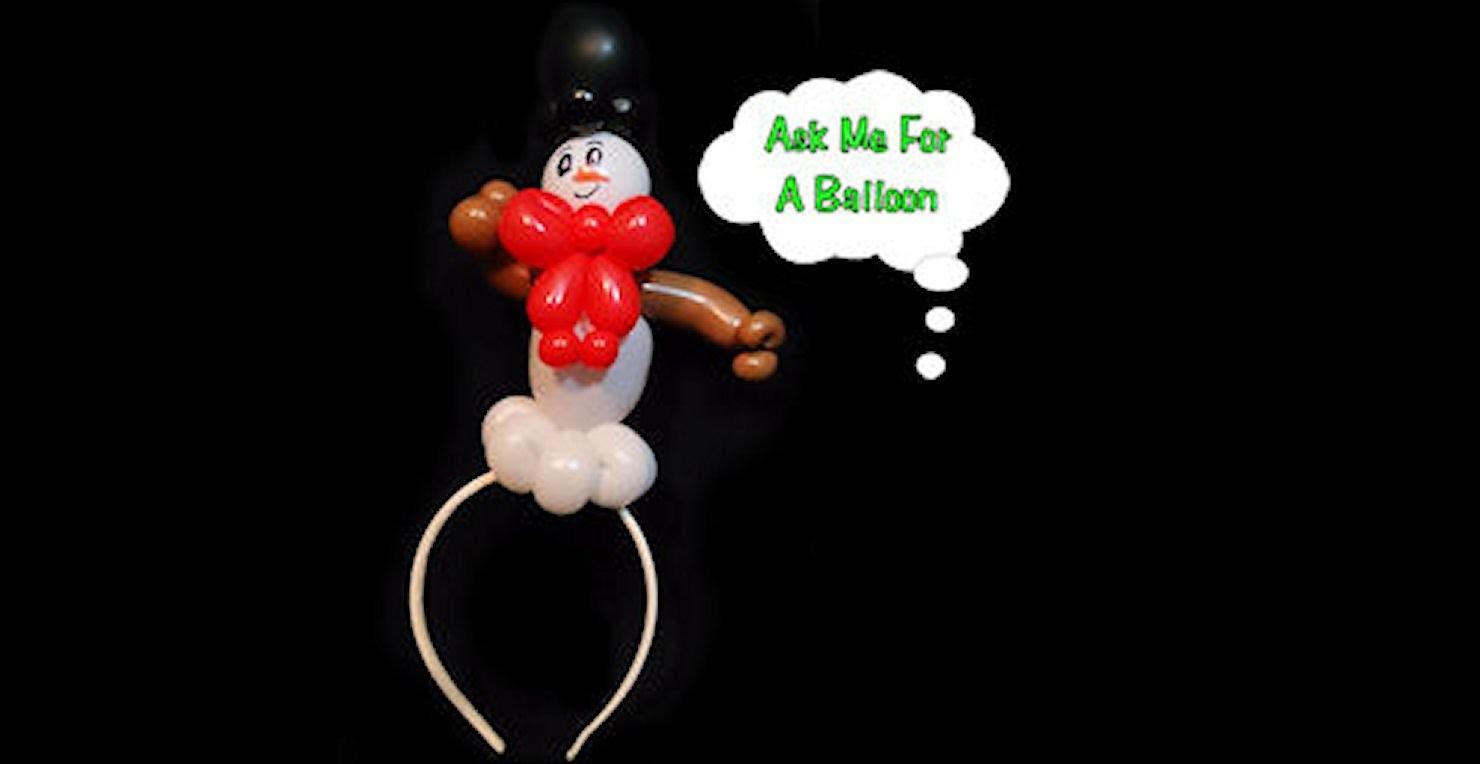 Balloon Mini Snowman Headband Tutorial