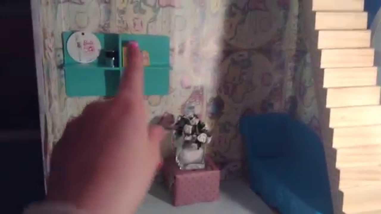Barbie house living room remodel tutorial!!
