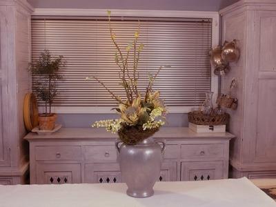 Classic Urn Berry and Protea Arrangement Floristry Tutorial