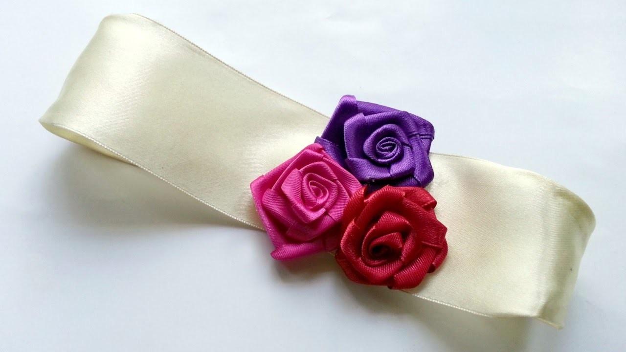 Create a Floral Satin Ribbon Headband - DIY Style - Guidecentral