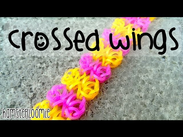 CROSSED WINGS bracelet tutorial || hook