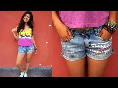 DIY: Aztec Print Shorts