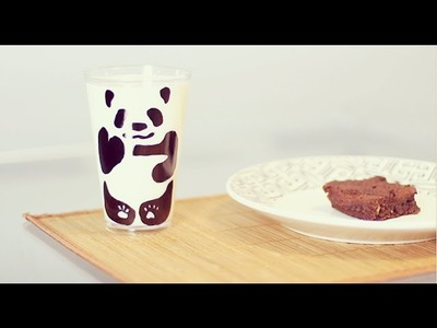 DIY: Como fazer copo de panda | Marcador permanente