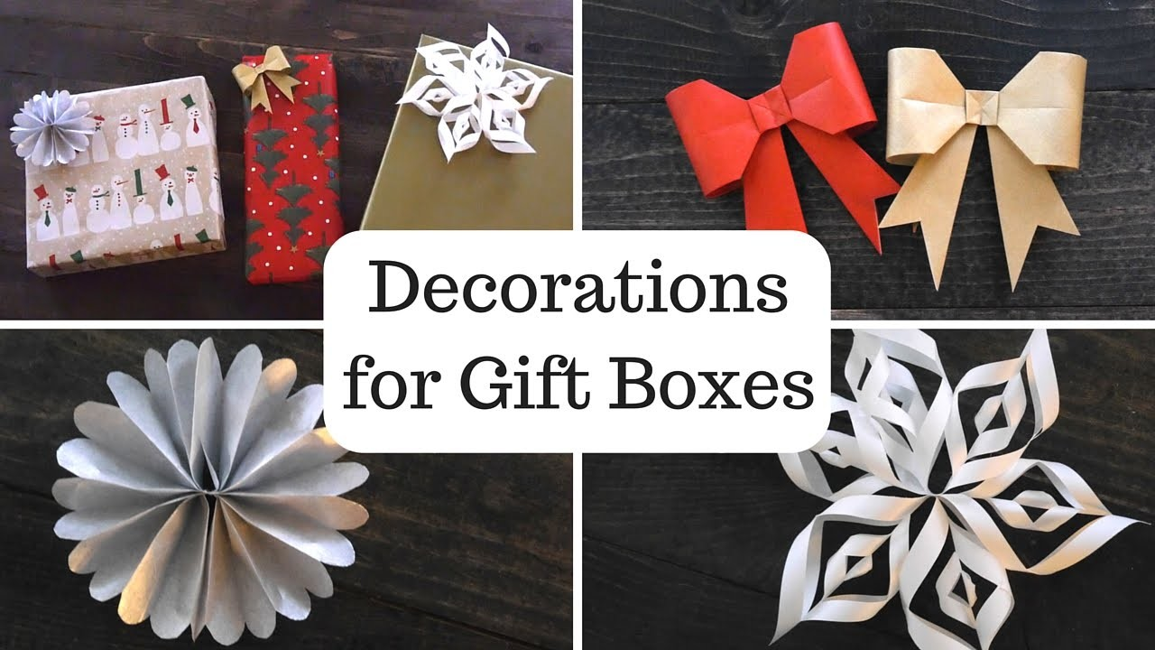 DIY Decorations for Gift Boxes