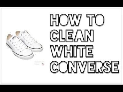 Diy: How to Whiten White Converse