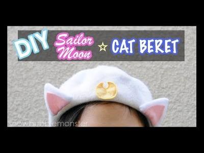 【DIY】『Luna and Artemis』Cat Beret【Sailor Moon】  snowbubblemonster