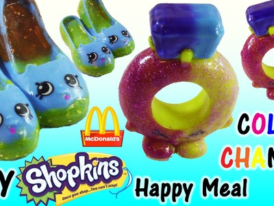 DIY McDonald's Happy Meal SHOPKINS Color Changers! Make your Own Rhonda Ring! Season 4 Crate!