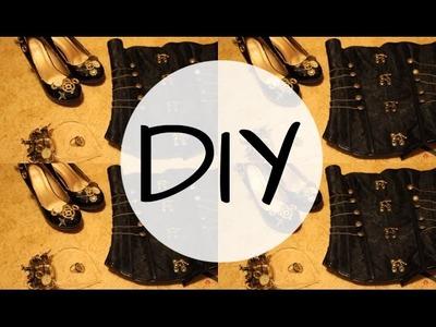 DIY STEAMPUNK Shoes, headpiece & ring = Evzuu