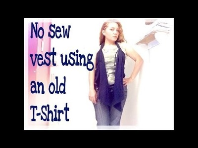 DIY: Super Easy No Sew Vest from an old T-Shirt!