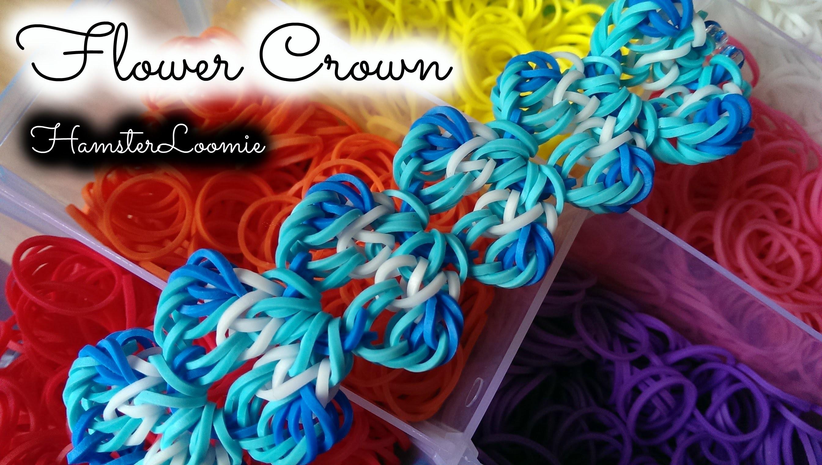 FLOWER CROWN bracelet tutorial || hook