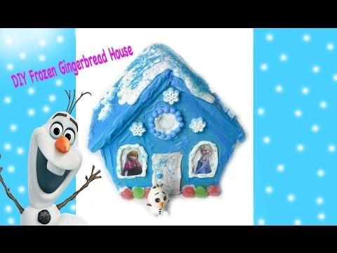 Frozen Gingerbread House - DIY Disney Frozen Inspired Holiday Craft  Queen Elsa & Anna Stickers