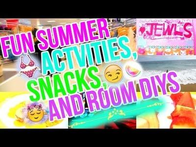 ❤Fun Summer Activities, DIY Snacks, and Room DIYS❤