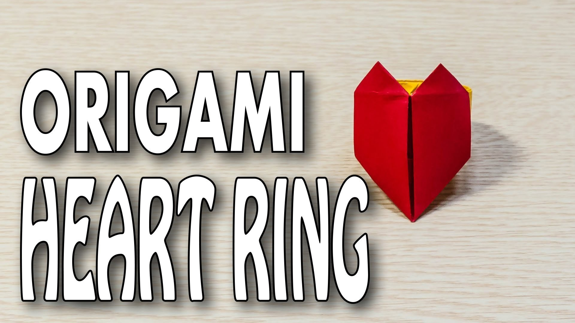 Heart Ring Origami ♥ Tutorial Finger Ring