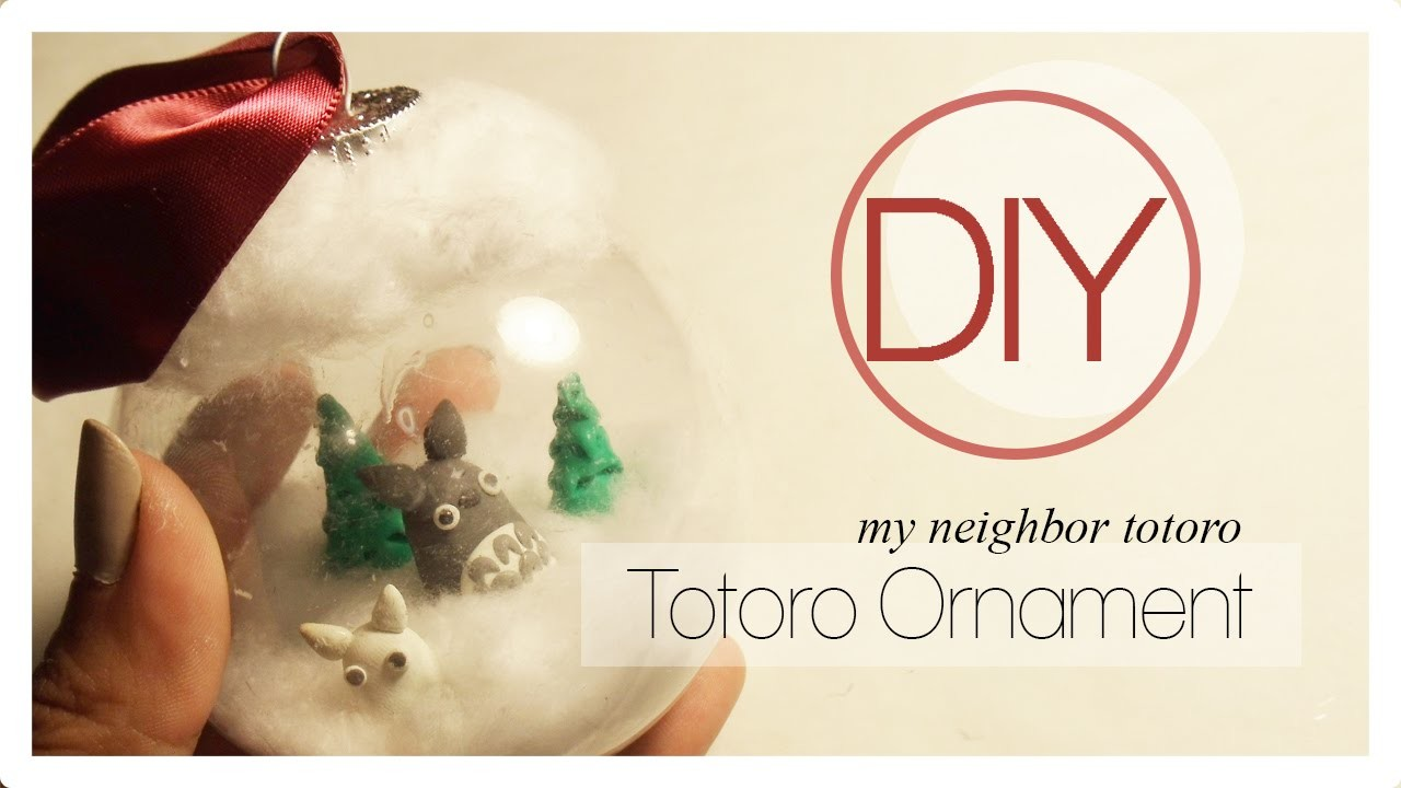 Holiday Studio Ghibli Totoro Ornament Tutorial [Polymer Clay]