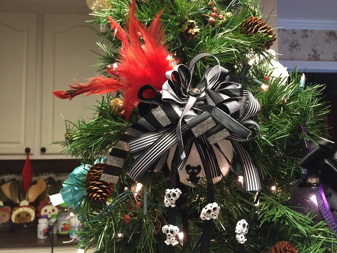 How to make a Cruella De Vil Christmas Ball Ornament Tutorial
