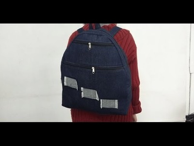 HOW TO MAKE JEANS BACKPACK - DIY