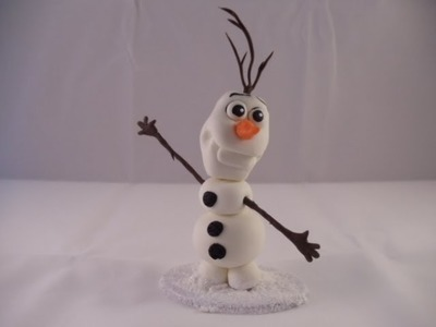 How to make Olaf Cake Topper with gumpaste Tutorial  (READ INFO for better quality video)