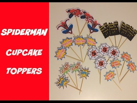 How to Make Spiderman & Superhero Cupcake Toppers DIY at home