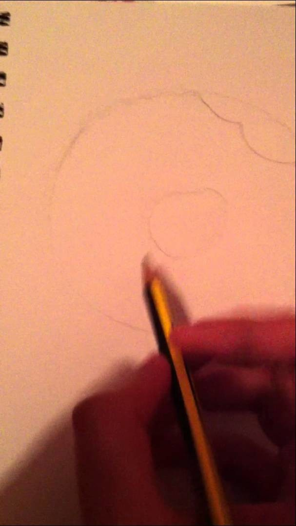 Kawaii Donut Drawing Tutorial #1-Pencil Outline